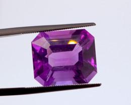 12.86 CT FREE SHIPPING! Custom Fancy Cut Purple Amethyst (Uruguay)