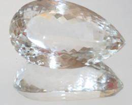 205 Ct Big Rock Crystal Quartz Pear 49x29.5mm (SKU 227)