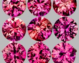 2.70 mm Round 9 pcs Pinkish Red Sapphire [VVS]
