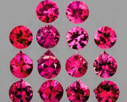 2.40 mm Round 14 pcs Pinkish Red (Ruby) Sapphire [VVS}