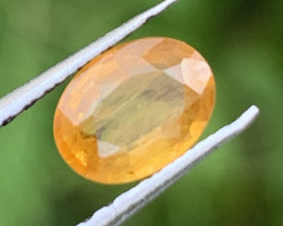 1.06 Carats Yellow  Sapphire Gemstone