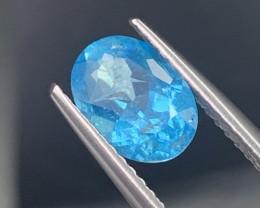 1.38 Cts Paraiba Like Color Neon Blue Natural Apatite