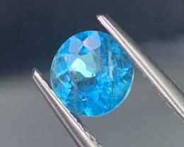 Paraiba Like Neon Blue Natural Apatite Round 6 mm 0.86 Cts