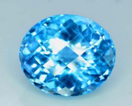 NR - 27.45 cts Electric Blue Topaz Gemstone