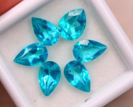 6.15ct Natural Paraiba Color Topaz Pear Cut Lot E76