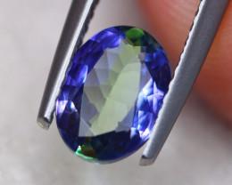1.11ct Natural Violet Blue Tanzanite Oval Cut Lot V7343