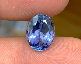 4.77 ct GIA Certified Tanzanite - Loupe Clean - Beautiful Color!