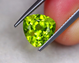 3.09ct Natural Green Peridot Trillion Cut Lot V7350