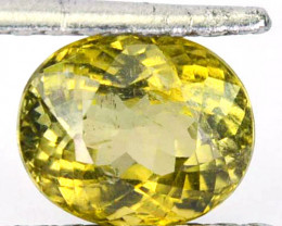 2.60 Cts Natural Greenish Yellow Tourmaline Oval Cut Mozambique