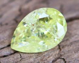 Greenish Yellow Diamond 0.32Ct Natural Fancy Diamond A2202