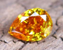 Yellowish Orange Diamond 0.11Ct Natural Fancy Diamond A2205