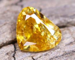 Yellowish Orange Diamond 0.12Ct Natural Fancy Diamond A2211