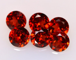 Garnet 3.62Ct 6Pcs Natural Spessartite Garnet E2503/B1