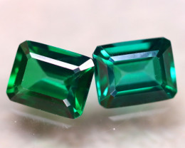 Green Topaz 8.00Ct 2Pcs Natural VVS Green Topaz E2510/A48