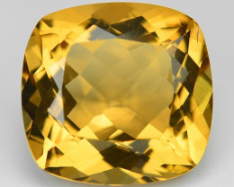 7.35 Cts Fancy Golden Yellow Color Natural Citrine Gemstone