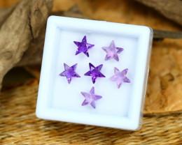 Amethyst 2.93Ct Calibrated Star 6x6mm Natural Purple Amethyst Lot C2307