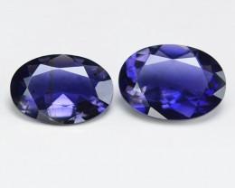 1.38 2 pcs Cts Amazing Rare Purple Color Natural Iolite Gemstone