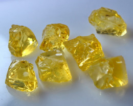 41.75 CT Natural - Unheated   Yellow Opal Rough Lot