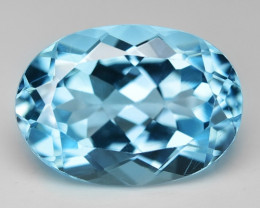 6.71 Carat Swiss Blue Natural Topaz Gemstones