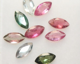 2.2 Ct Tourmaline Lot Faceted Marquise 6x3mm.-(9pcs).-(SKU 241)