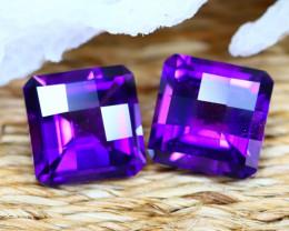 Uruguay Amethyst 4.95Ct VVS Pixalated Cut Natural Violet Amethyst A2302