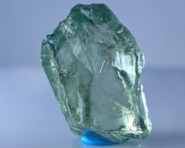 24.30 Cts Natural & Unheated Green Prasiolite Clean Facet Rough