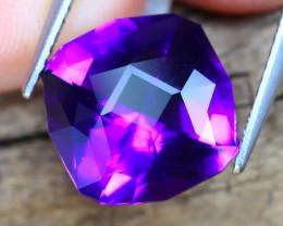 Uruguay Amethyst 4.84Ct VVS Master Cut Natural Violet Amethyat B2307