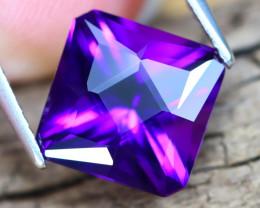 Uruguay Amethyst 3.42Ct VVS Master Cut Natural Violet Amethyst B2313