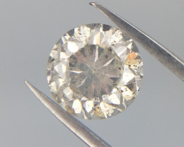 0.48 cts , Natural Round Diamond , Salt and Pepper Diamond , WR1018