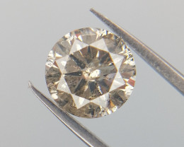 0.49 cts , Salt And Pepper Diamond , Round Brilliant Cut , Natural Diamond