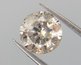 0.41 cts , Salt and Pepper Diamond , Round Brilliant Diamonds , WR 1028