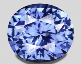 GIA certified, flawless custom cut Ceylon natural blue sapphire.