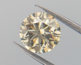 0.51 cts , Light Yellow Diamond , Rare Diamond , WR1043