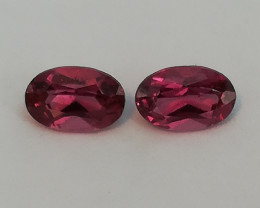 Rhodolite pair, 1.235ct, perfect for jewelery!