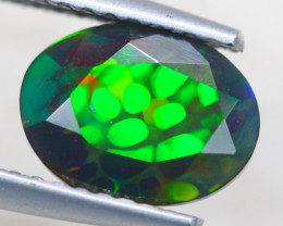 1.17ct Natural Ethiopian Welo Solid Smoked Faceted Opal Lot GW7402
