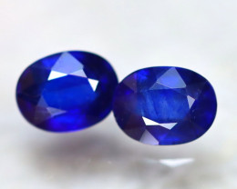 Ceylon Sapphire 4.42Ct 2Pcs Royal Blue Sapphire E2720/A23