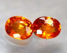 Garnet 1.30Ct 2Pcs Natural Vivid Orange Spessartite Garnet E2723/B34