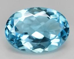 6.50 Carat Swiss Blue Natural Topaz Gemstone