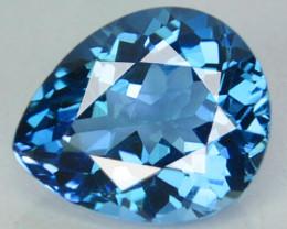 ~PRETTY~ 4.12 Cts Natural London Blue Topaz Pear Cut Brazil