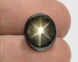6.11 Cts 6 Rays Black Star Sapphire Natural Gemstone