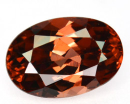 ~BRILLIANT~ 2.11 Cts Natural Imperial Orange Zircon Oval Cut Tanzania