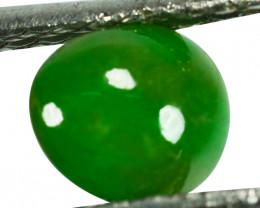 ~UNTREATED~ 1.46 Cts Natural Green Jade Cabochon Burmese