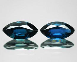 1.43 Cts 2 pcs Amazing Rare Natural Fancy Blue Ceylon Sapphire Loose Gemsto
