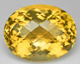 *No Reserve* 22.16 Cts Fancy Golden Yellow Color Natural Citrine Gemstone