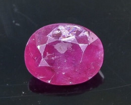 1.29 Crt Natural Ruby Faceted Gemstone.( AB 80)