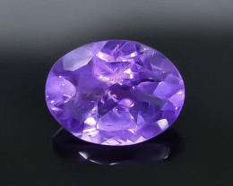 1.76 Crt Natural  Amethyst Faceted Gemstone.( AB 80)