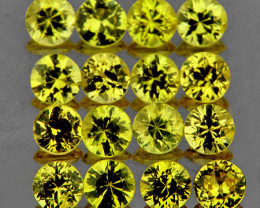 1.90 mm Round 30 pcs 1.11cts Canary Yellow Sapphire [VVS]