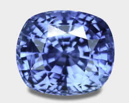 Exquisite natural cushion cut Ceylon blue sapphire.