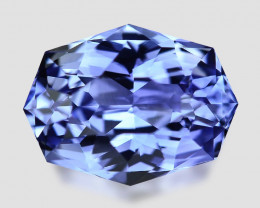 Exquisite cushion-mix cut natural blue sapphire.