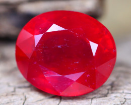 Red Ruby 9.14Ct Oval Cut Pigeon Blood Red Ruby A2412